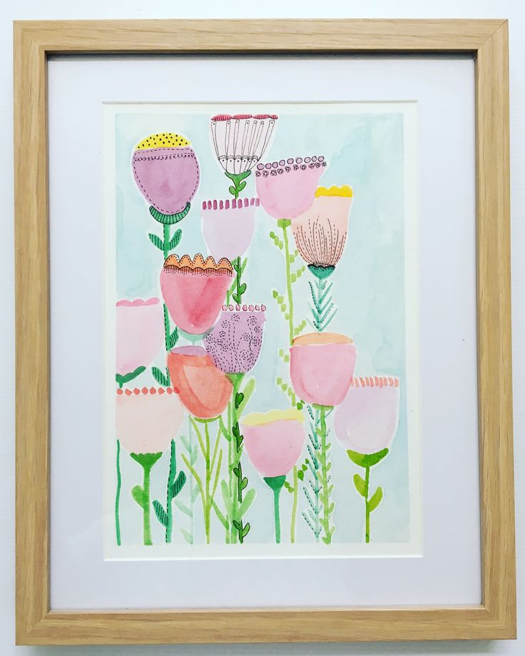 Sweet sweet joy! - original watercolour and ink art work by Kim Miatke