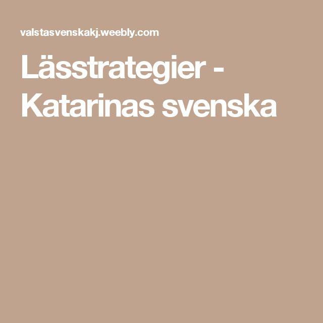 Lässtrategier - Katarinas svenska