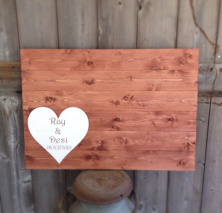 A personal favorite from my Etsy shop https://www.etsy.com/listing/233301934/rustic-wood-rustic-guest-book-wood-guest