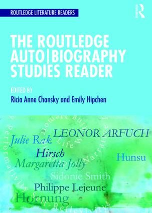 The Routledge Auto|Biography Studies Reader (Paperback) - Routledge