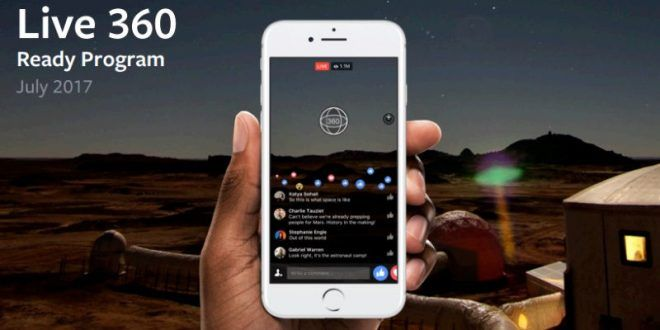 Facebook Live 360 Degree Videos Now Support 4K Streaming and VR