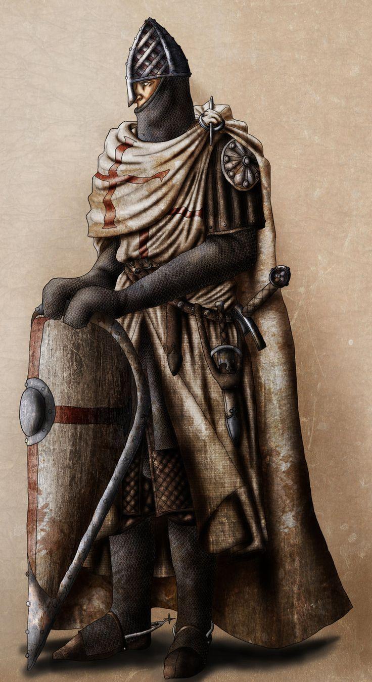 """Knights Templar:  """"#Knight of the #Temple,"""" by InfernalFinn, at deviantART."""