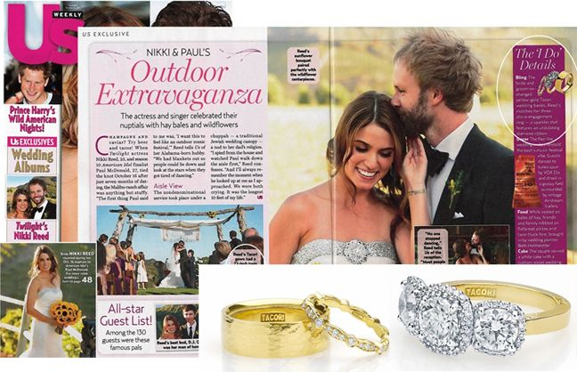 Twilight Star Nikki Reed and her husband, Paul McDonald designed their own @tacori engagement rings and wedding bands.