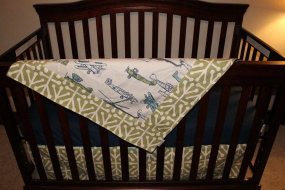 Navy Green Vintage Airplane Green Aruba and by DesignsbyChristyS