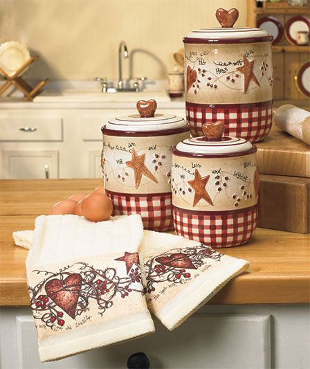 Hearts And Stars Decor For Kitchen
