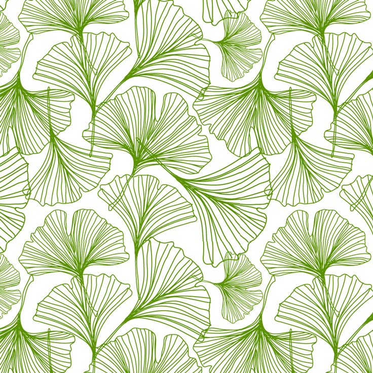 Jessica Swift Gingko Green Leaf  --Would make a lovely feature wall!