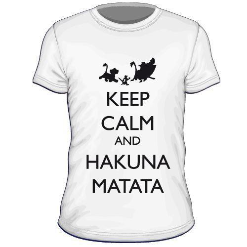 Maglietta personalizzata Keep Calm and Hakuna Matata