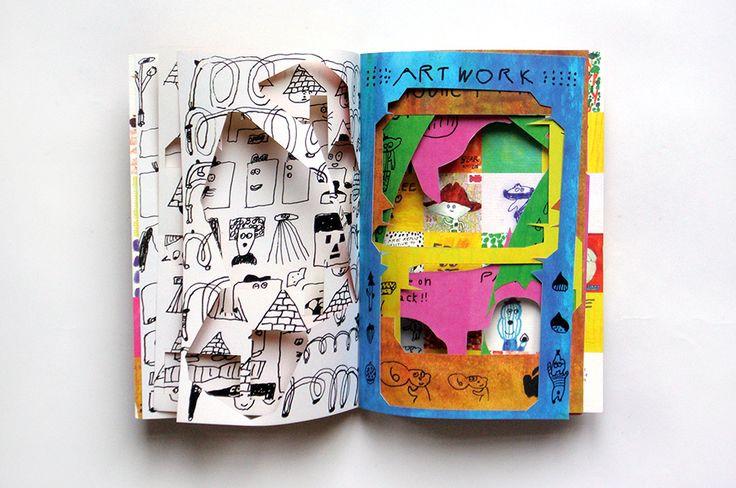 Kosho Kosho Mogu Takahashi, 2011 Paper cut-out book, 16 pages