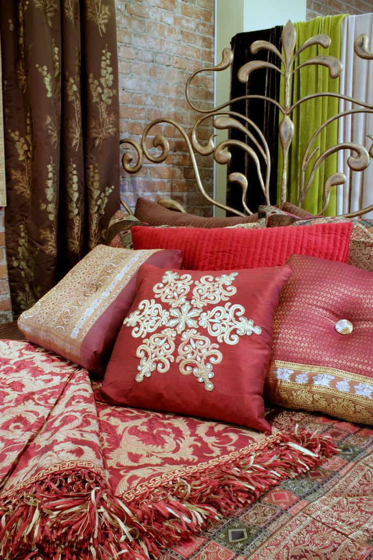Pin baroque bed purple velvet fabric with rhinestones and black - One Of The Best Ways To Spruce Up Your Home Is To Add Beautiful Cushions At Jane Hall Design We Use Some Of The Most Beautiful Fabrics In The World To Make