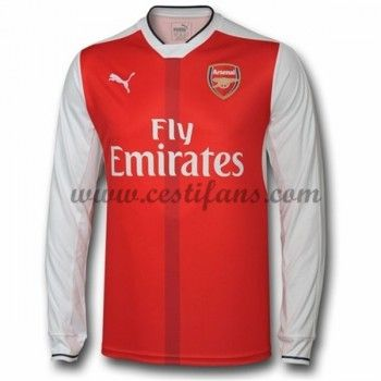 Arsenal Fotbalové Dresy 2016-17 Domáci Dres Dlouhým Rukávem