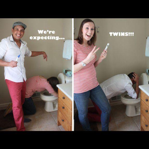 so lustig verk nden paare die schwangerschaft schwangerschaft nachrichten und witzig. Black Bedroom Furniture Sets. Home Design Ideas