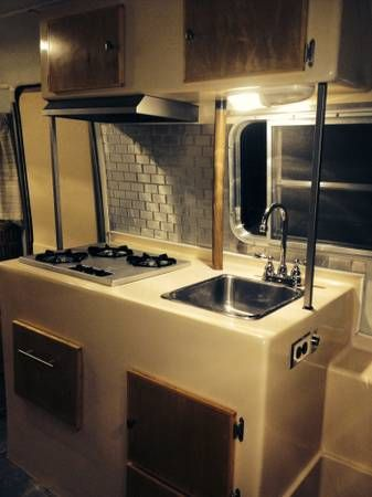 Swanky 17 Ft Boler Remod Kitchen Bolers Campers
