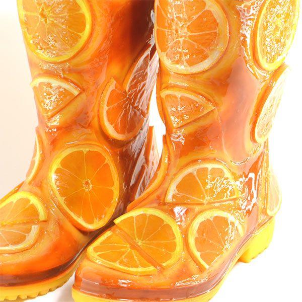 Orange wellies!