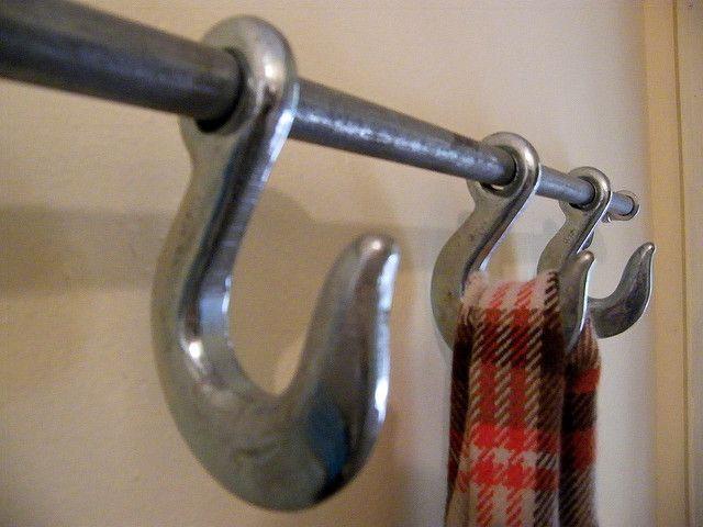 Industrial Hook coat rack
