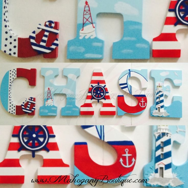 """~~ Nautical Theme ~~ ~~PLEASE READ BEFORE PURCHASING~~ ~PRICING~ 6""""~ $12.00 per letter 8""""~ $15.00 per letter 9""""~ $19.00 per letter (9"""" BLOCK, Default size & font type. PLEASE contact for a different size & type 10"""" ~ $22.00 per letter 12""""~ $25.00 per letter 14""""~ $27.00 per lette..."""