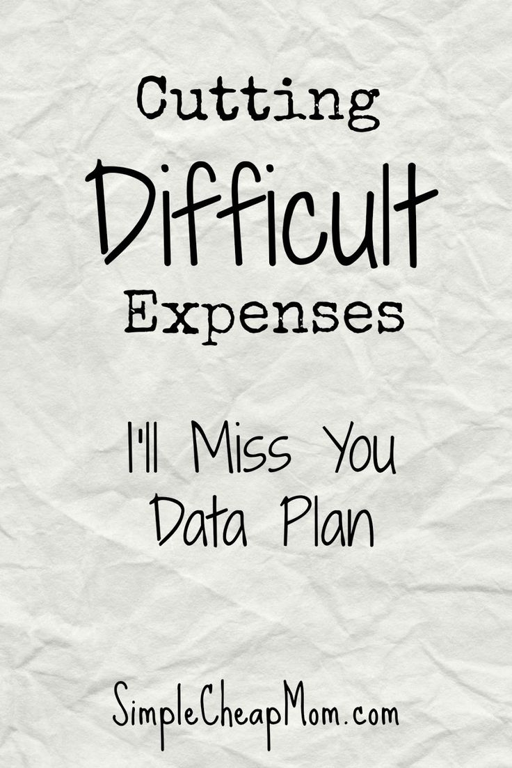 Simple Cheap Mom: Cutting Difficult Expenses: I'll Miss You Data Plan