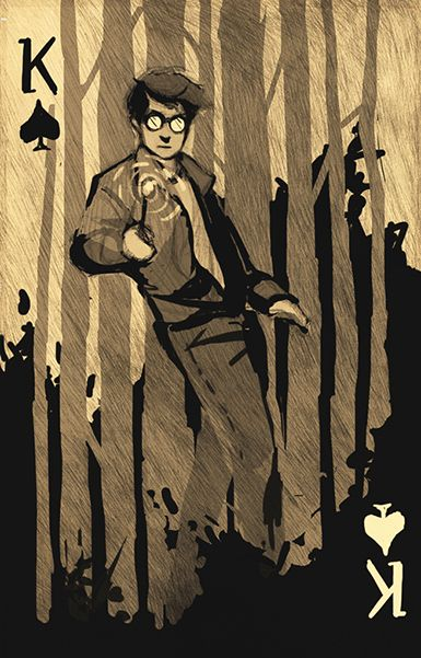 Harry Potter Playing Cards by Katherine - King of Spades | more here: http://playingcardcollector.net/2013/07/19/harry-potter-playing-cards-by-katherine/