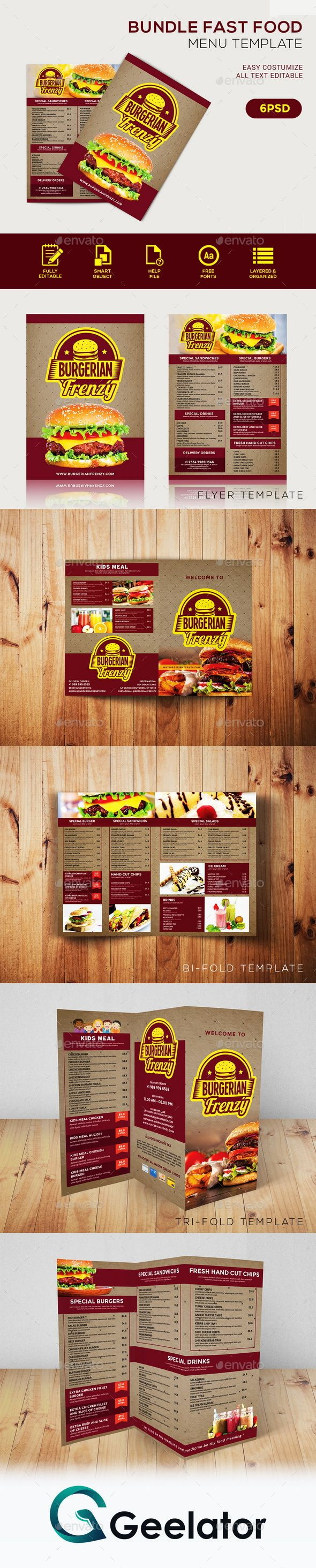 Bundle Fast Food Menu Template