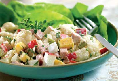 Recette Salade de chou-fleur au jambon et au gouda - Coup de Pouce