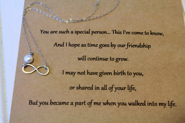 Step daughter infinity necklace, to bad i had to return the 2 i ordered.