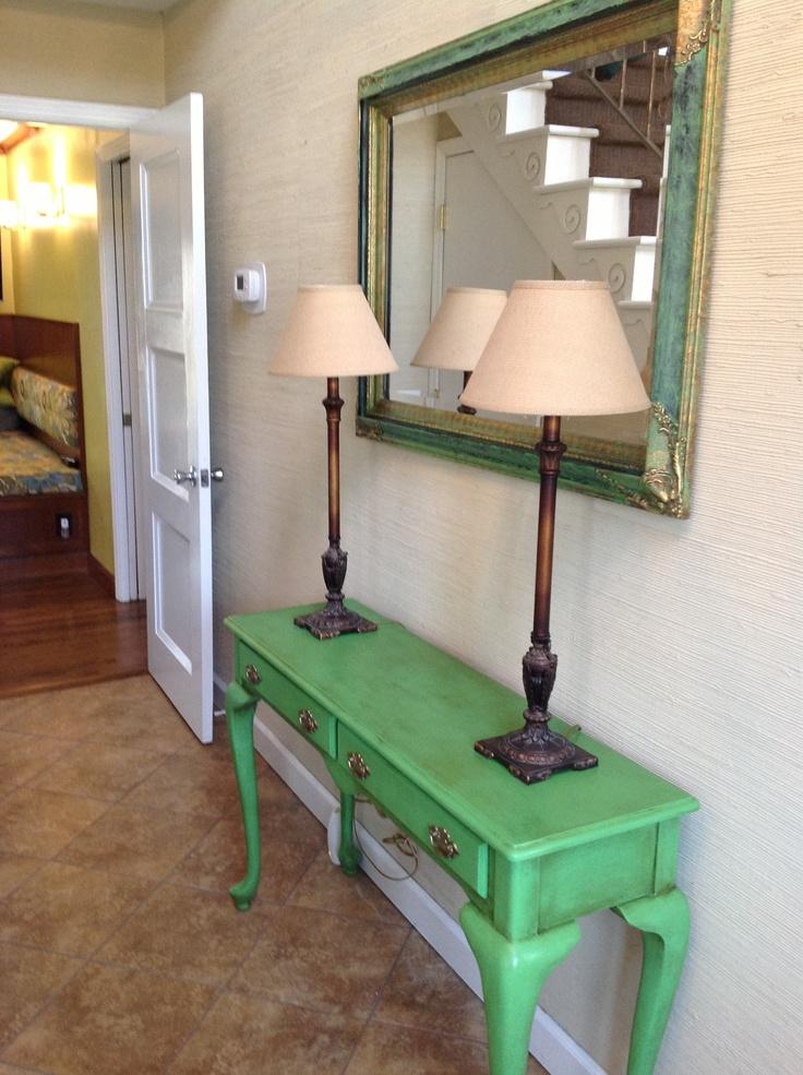 annie sloan painted mirror