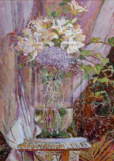 Pink Lilies by CharskayaLucya.deviantart.com on @DeviantArt #импрессионизм #русский_импрессионизм  #Люся_Чарская Художник_Люся_Чарская  #Современный_Художник