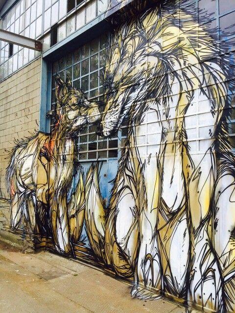 Amazing wolf graffiti art
