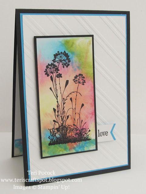 Stampin' Up! - Serene Silhouettes - Technique Card ....  Teri Pocock - http://teriscraftspot.blogspot.co.uk/2015/09/serene-silhouettes-technique-card.html