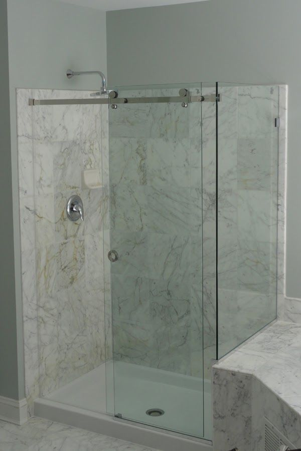 Serenity Frameless Bypass Shower Doors With 90 Degree Return Panel Shower Doors Glass Shower Doors Frameless Shower Doors