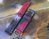 Watch strap, leather watch strap, watch band, leather watch band, watch straps, vintage strap, rustic strap, panerai strap, men's strap, 44