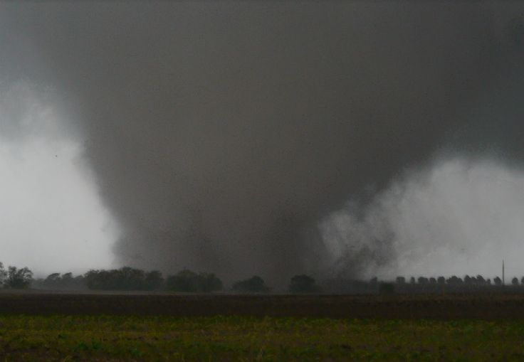 A large tornado touches down near Dallas on April 3, 2012.