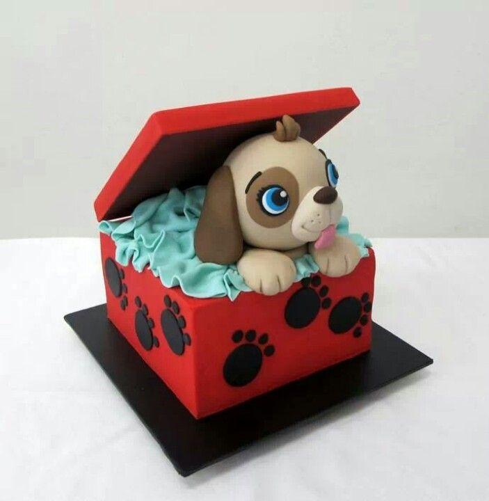Dog in a Box Cake.