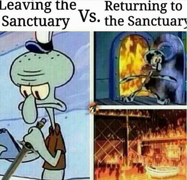 The memories of the dark brotherhood sanctuary burning down