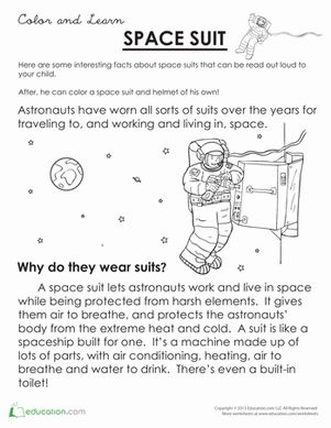 space suits science worksheets and earth space on pinterest. Black Bedroom Furniture Sets. Home Design Ideas