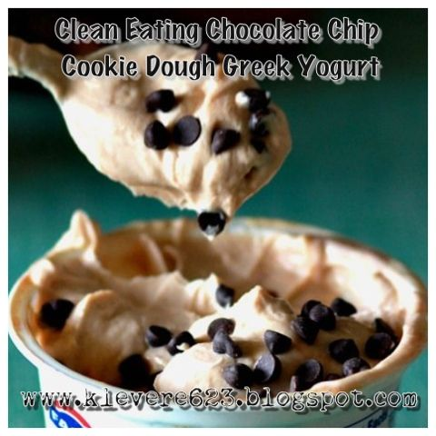 Clean Eating Chocolate Chip Cookie Dough Yogurt Recipe on Yummly. @yummly #recipe