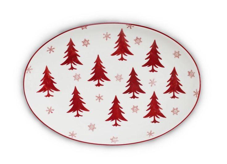 "Winterfest Oval Platter 14.5"" by EuroCeramica #EuroCeramica"