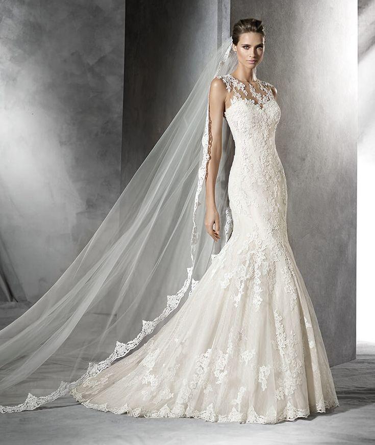 PLADIE - Abito da sposa in tulle, in stile sirena e a vita bassa #pronovias