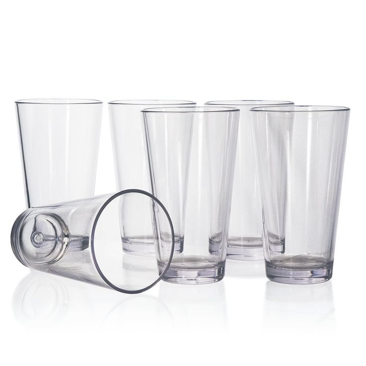 Amazon.com: Bistro Premium Quality Plastic 20oz Water Tumbler | Set of 6: Kitchen & Dining