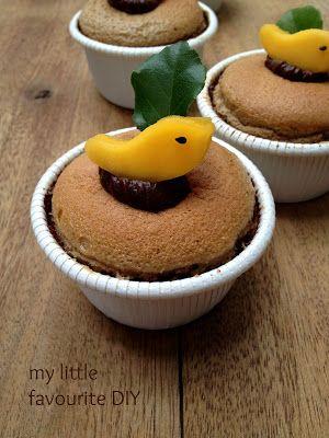my little favourite DIY: Mocha Hokkaido Chiffon Cupcake ~摩卡北海道戚风蛋糕