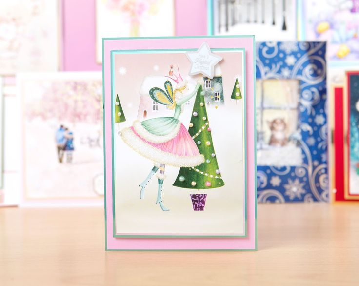 Books On Card Making Part - 41: Festive Card From The @hunkydorycrafts Little Book Of Sparkling Season! /  Cardmaking / Papercraft