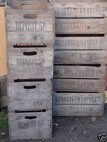 Covent Garden Vintage Wooden Fruit/veg Box Storage Box