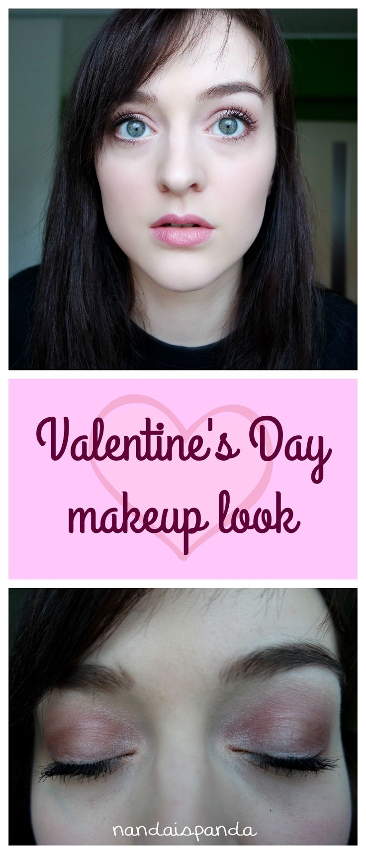Valentine's Day, makeup, tutorial, inspiration, idea, makeup look, pink, cosmetics, affordable, budget, drugstore