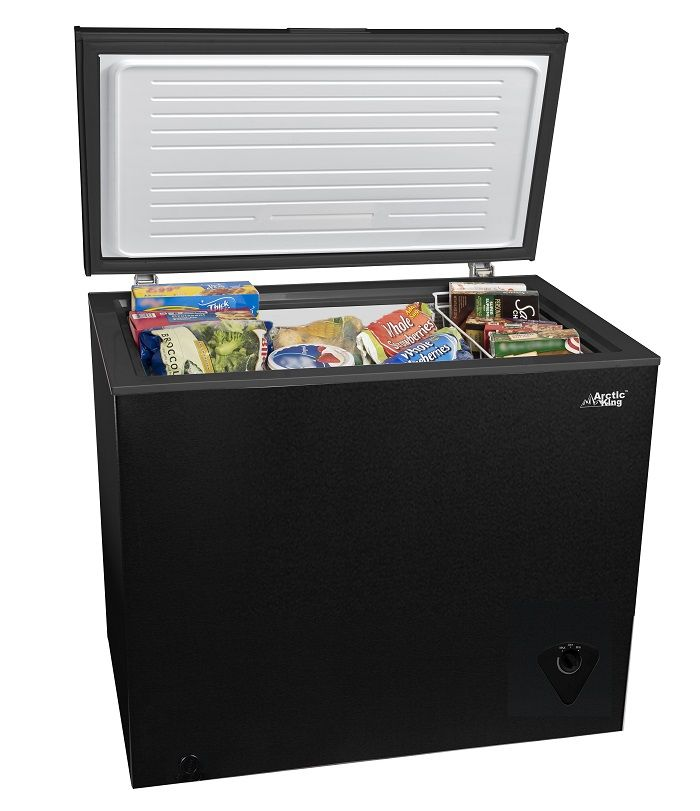 Arctic King 7 Cu Ft Chest Freezer Black Walmart Com Chest Freezer Storage Baskets Outdoor Storage Box