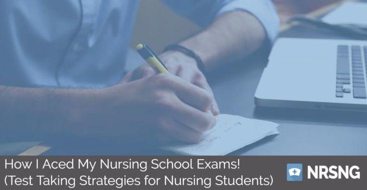 How I Aced My Nursing School Exams! (Test Taking Strategies for Nursing Students)