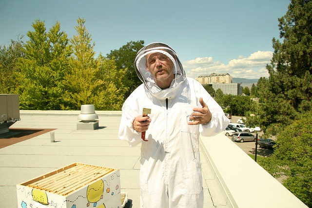 Honeybees atop Food Training #4 by Thompson Rivers, via Flickr  Thompson Rivers University in Kamloops, BC, Canada