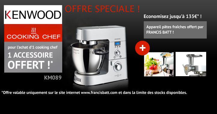 1 accessoire offert pour tout achat d'un Cooking Chef ! #promo #bonplan #reduc