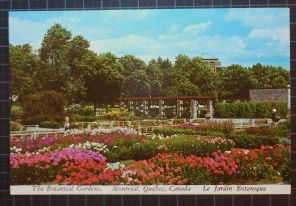 Plastichrome Postcard, The Botanical Gardens, Montreal, Quebec, Le Jardin Botanique,