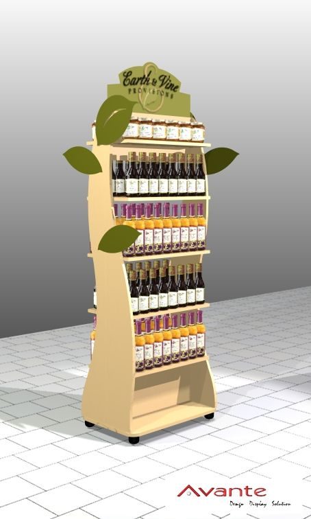 Earth & Vine Provisions Wooden Pop Display