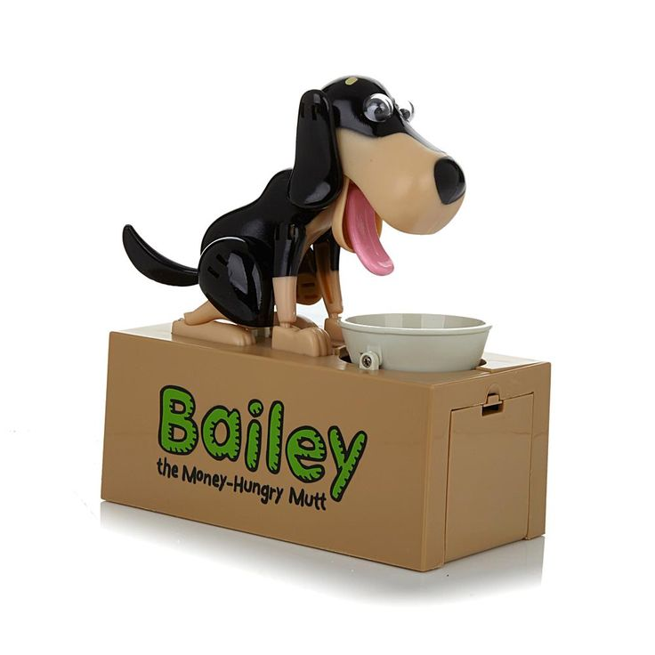 Bailey the Money-Hungry Mutt Electronic Doggy Bank - Brown
