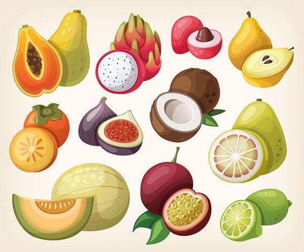 fumetto illustrazione di frutta